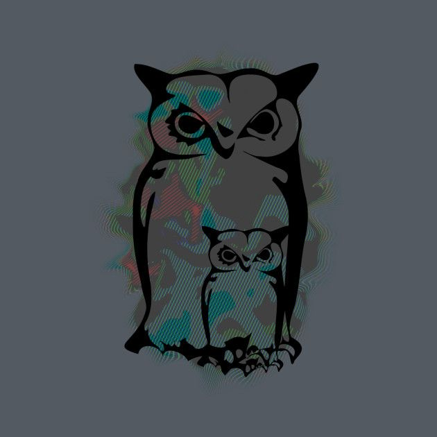Awesome 'Little+Big+Owls' design on TeePublic!
