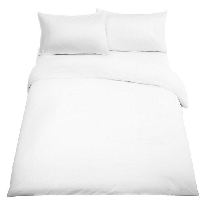 Buy John Lewis Easy Care Polycotton 180 Thread Count Standard Pillowcase, White Online at johnlewis.com