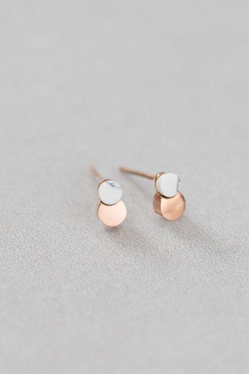 Lovoda - Orbit Stone Earrings (14K Gold), $15.00 (http://www.lovoda.com/orbit-stone-earrings-14k-gold/)
