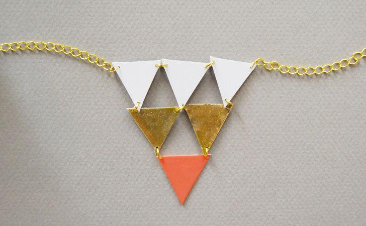 colliers geometriques | Et si vous souhaitez d'autres idées pour réaliser des colliers DIY ...