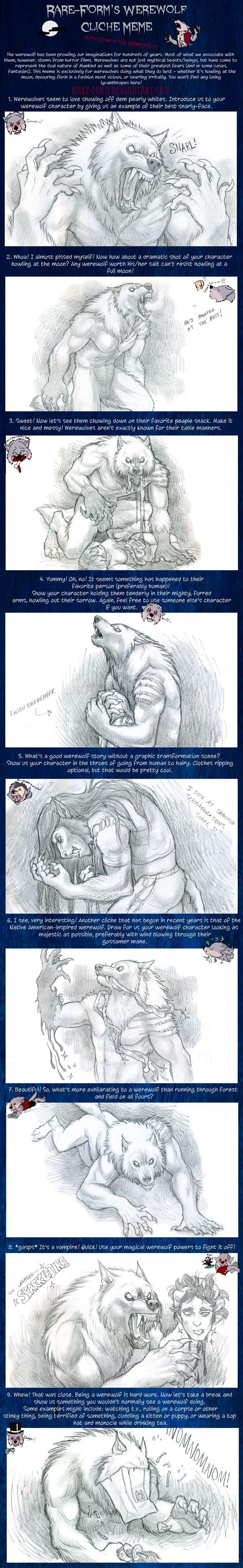Werewolf Cliche Meme by *kyoht on deviantART