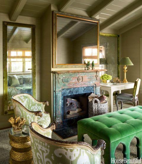 Die besten 25+ Kaminbibliothek Ideen auf Pinterest Gestrichene - englischer landhausstil wohnzimmer