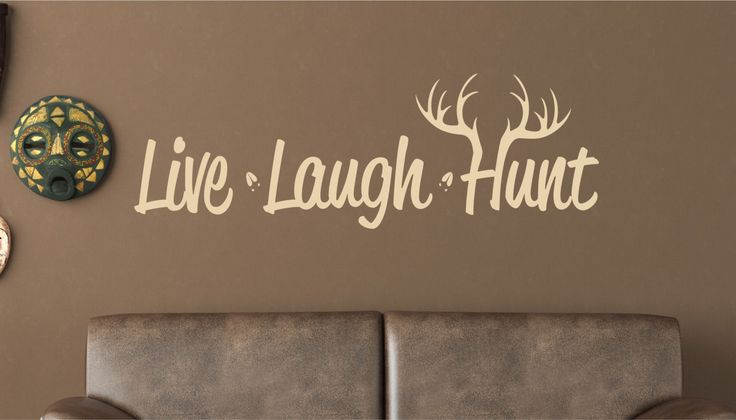 Live Laugh Hunt Wall Decal  Hunting Vinyl Decal  Deer by LucyLews, $12.00