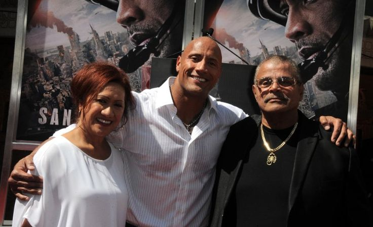 """Dwayne """"The Rock"""" Johnson with daughter Simone Alexandra Johnson at the Hand And Footprint Ceremony"""