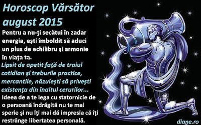 diane.ro: Horoscop Vărsător august 2015