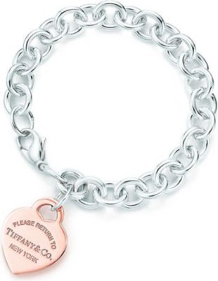 705cd3ab5 TIFFANY & CO - Return to Tiffany heart tag bracelet in RUBEDO® metal and  silver | Selfridges.com