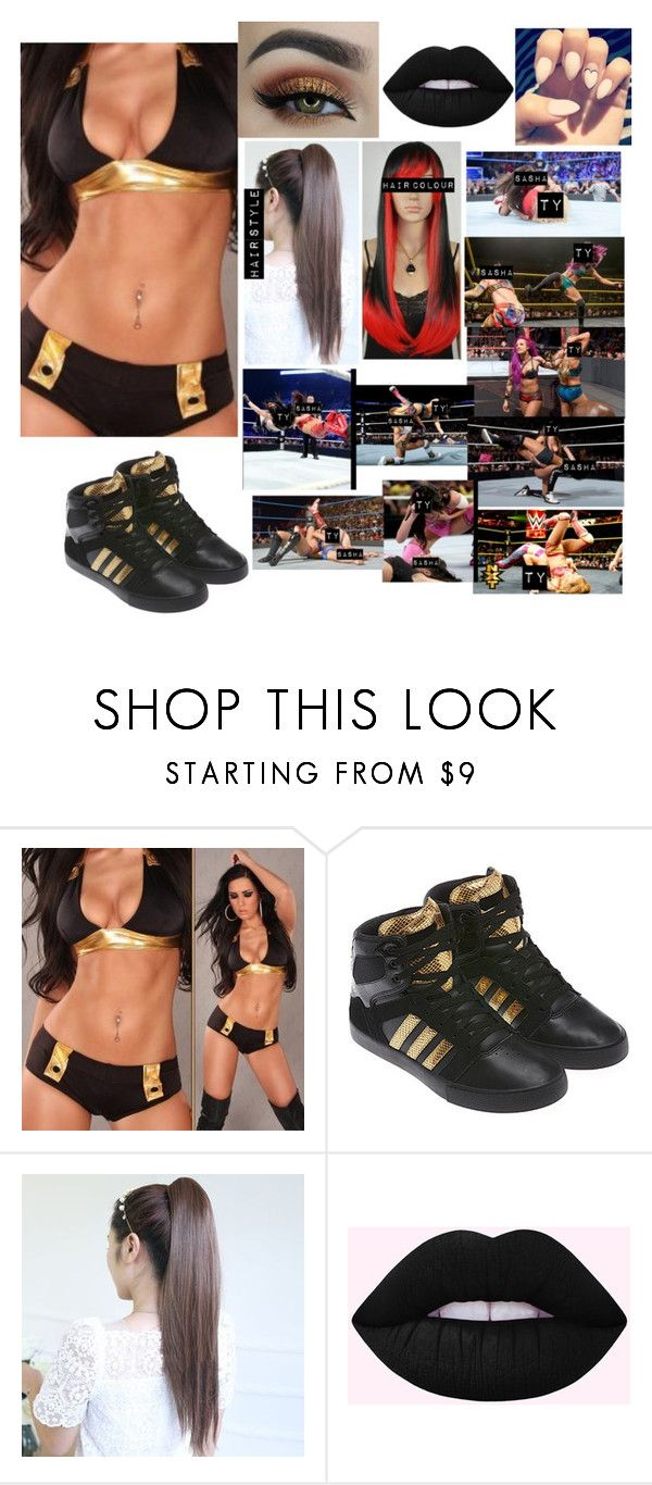"""Ty-women's championship match against Sasha Banks"" by princess-nikki123 ❤ liked on Polyvore"