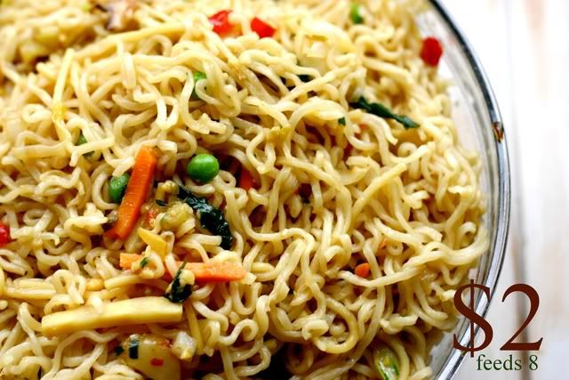"chinese noodles-  we all LOVED this, it made plenty, and ""tasted like real restaurant food!""  My kids thought it was like eating at Panda Express.  Do over for sure!"
