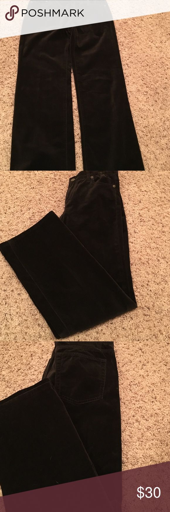 J Crew Chocolate Brown slacks j Crew Chocolate Brown Velvet feel pants👢pair these babies with anything and they are stunning 💄 J. Crew Pants Boot Cut & Flare