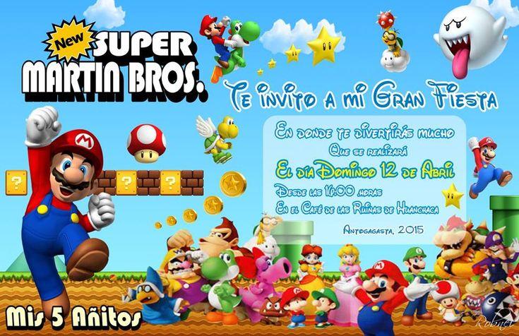 Invitación Virtual de Mario Bross 01 | Tarjeti Diseños - Invitación de Matrimonio Chile