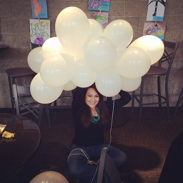 10 Times Rain Made A Wedding Even More Special: Making Balloon Clouds To Hang On The Stage For A Work