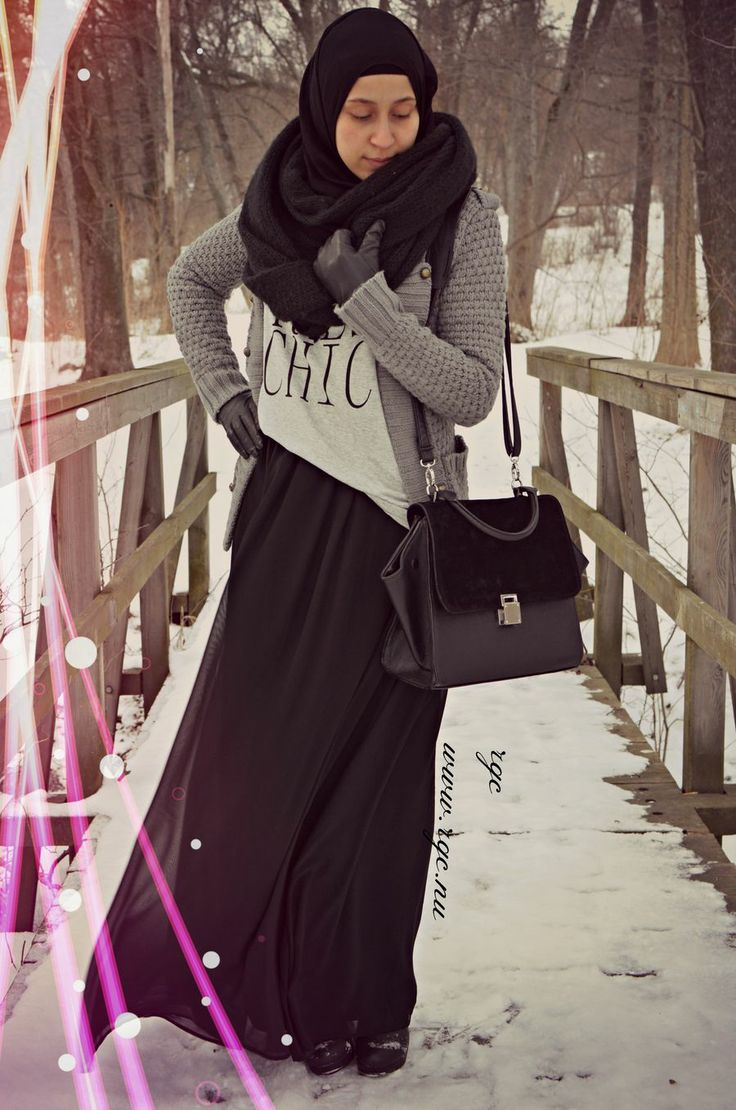 Hijab chic in snowy weather