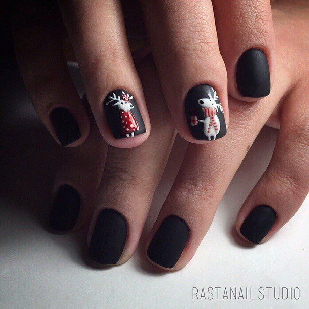 Accurate nails, Black shellac nails, Fashion nails 2016, Kid nails with pattern…