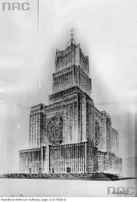 Projekt nigdy nie wybudowanego kościoła Opatrzności Bożej na Polu Mokotowskim