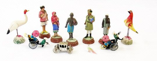 A quantity of Indian figures and small white ceramic horses (af) (4 boxes) Estimate £50.00 to £80.00 (Lot no: 38 in sale on 05/08/2014) The Cotswold Auction Company