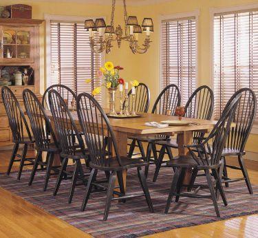 9-pc Broyhill Attic Heirlooms Oak Rectangular Leg Table Table Dining Room Set, Broyhill, Attic Heirlooms
