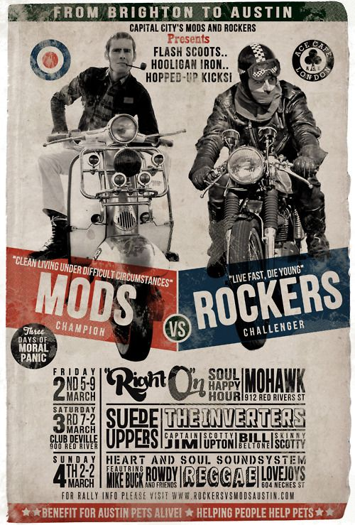 Mods X Rockers   ...Please save this pin.  Because for vintage collectibles - Click on the following link!.. http://www.ebay.com/usr/prestige_online