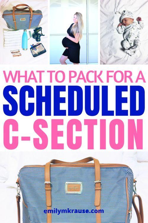 Was für ein geplanter Kaiserschnitt zum Packen – was für ein … – C-Sect …   – Newborn Essentials