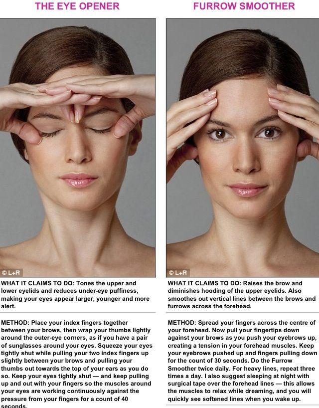 Face Exercise Eye Opener Brow Furrow