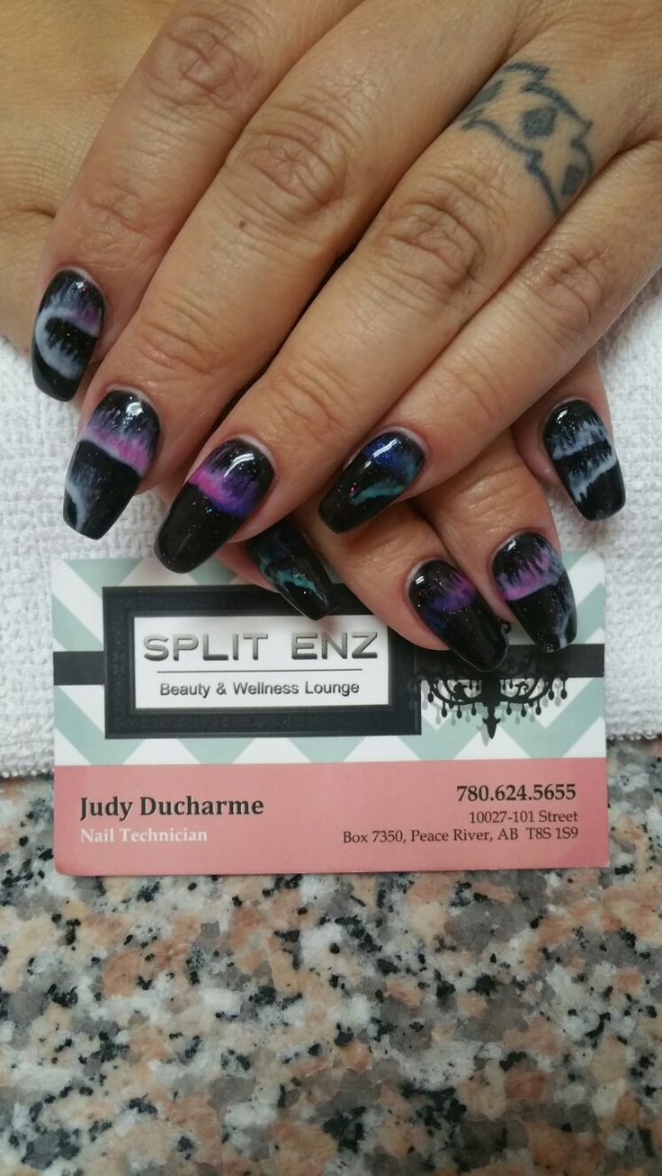 Northern lights ~ LCN Gel nails on my own hands