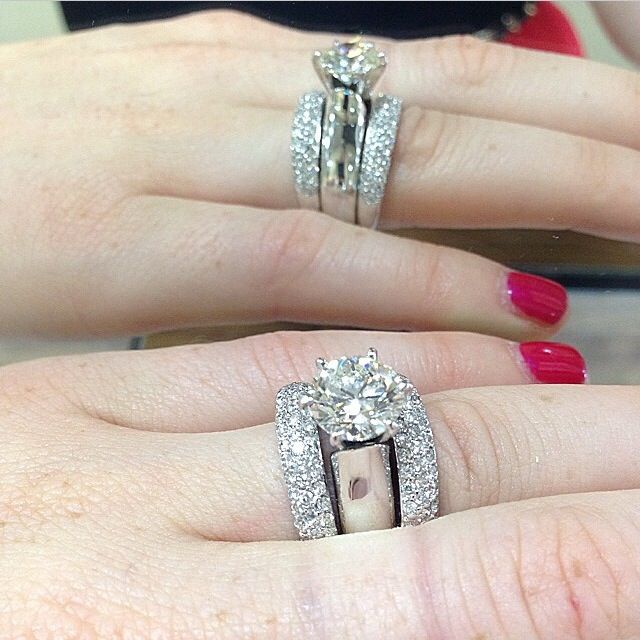 Double vision . Center stone 2.40ct Custom design by Gabriel Fine Jewelers. modesto, ca. 109-529-2110