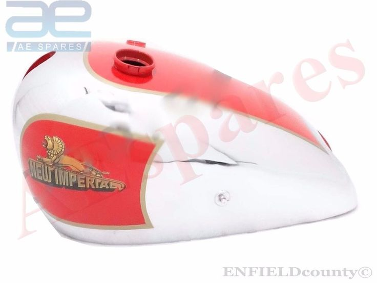 NEW IMPERIAL 1936 MODEL 100 350cc RED PAINTED CHROME PLATED PETROL GAS FUEL TANK