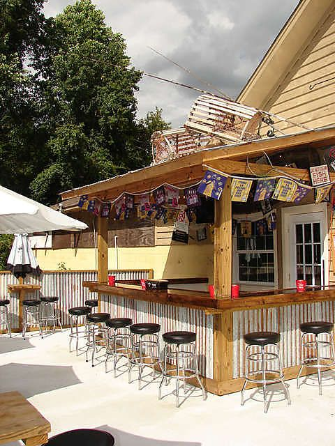 Backyard Bar And Grill Ideas diy outdoor fire bar and grill station favorite places spaces pinterest grill station bar and taps Like The Outside Bar Like Seating