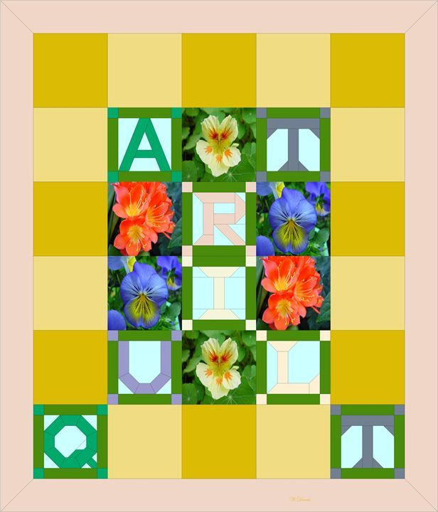 Alphabet Art Quilt 8 - Willy Decade