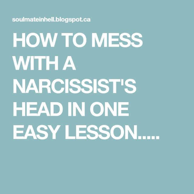 how to teach a narcissist a lesson