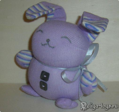 Милая игрушка Зайчик Полосатик! ...из носка! . Обсуждение на LiveInternet - Российский Сервис Онлайн-Дневников