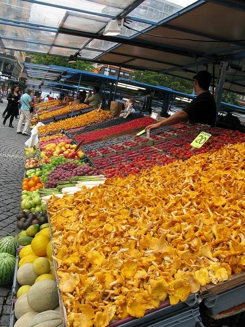 Hötorget Market Place, middle of Stockholm City. Sweden. Lo visité varias veces.