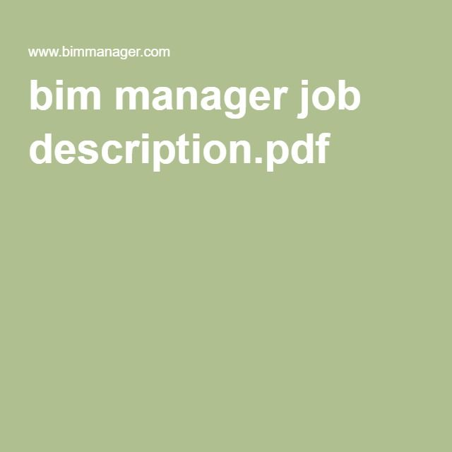 bim manager job description.pdf