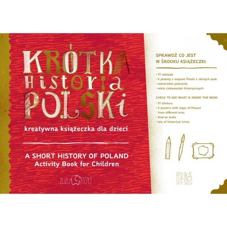 Krótka Historia Polski kreatywna książeczka - Zuzu Toys - PolishDesignNow.com