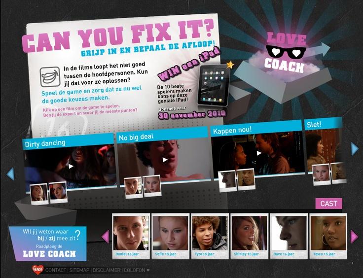 In de online game 'Can You Fix It?', leren jongeren van 12-18 jaar hoe ze hun wensen en grenzen op seksueel gebied kenbaar kunnen maken. Tien filmpjes tonen situaties die uit de hand dreigen te lopen. Jongeren kunnen zelf ingrijpen wanneer ze vinden dat hun grens is bereikt.
