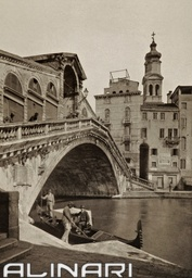 Rialto Bridge, Venice    Ongania, Ferdinando * 1890-1895  Fratelli Alinari Museum Collections-Malandrini Collection, Florence $42