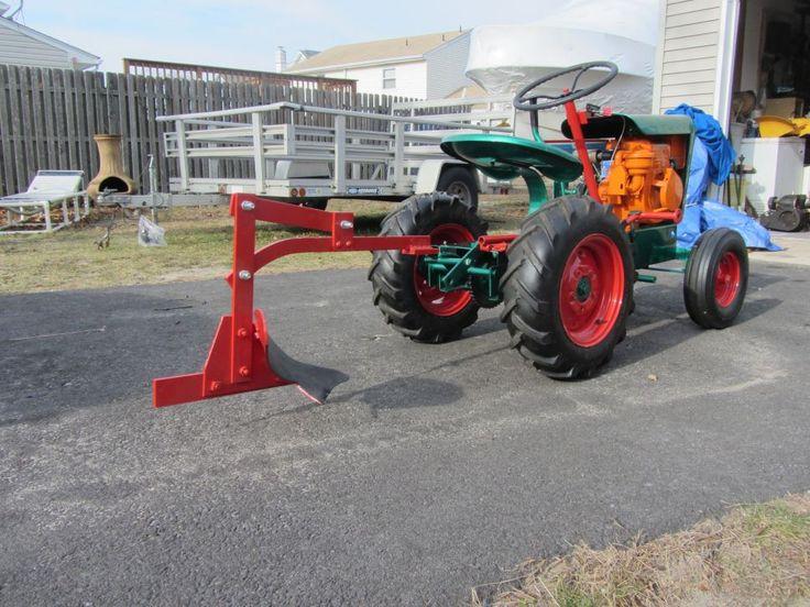 Garden Tractor Bottom Plow : Gemco big boy with single bottom plow garden