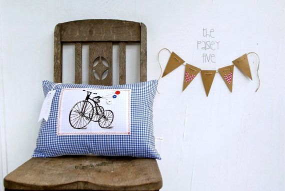 Oui Oui... Cushion Pillow Cover in Gingham . by ThePaisleyFive, $35.00