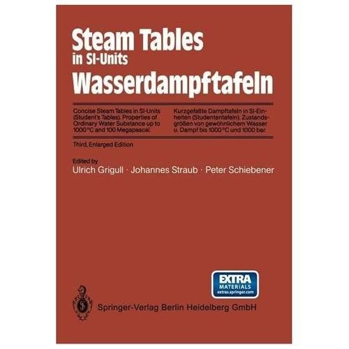 Steam Tables in Si-Units / Wasserdampftafeln: Concise Steam Tables in Si-Units (Student S Tables) Properties of Ordinary Water Substance Up to 1000 C
