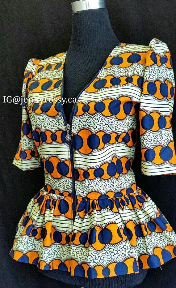 Stampa Peplum camicetta africano le donne africane