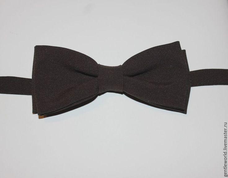 """Купить галстук бабочка """" Браун"""" - коричневый, однотонный, галстук-бабочка, галстук бабочка, бабочка"""