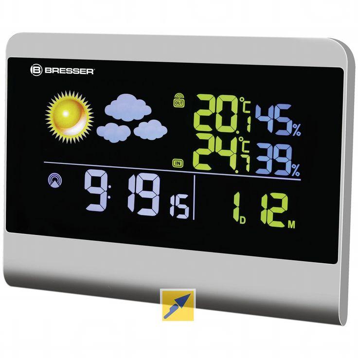  Funkwetterstation mit hochwertigem BTN Farb Display    Eigenschaften    Hochwertiges BTN true black LCD Bildschirm  Leuchtende Farben  Funkgesteuerte Zeit- und Kalenderanzeige über das DCF Signal (Atomuhr)  12h /24h Zeitformat...