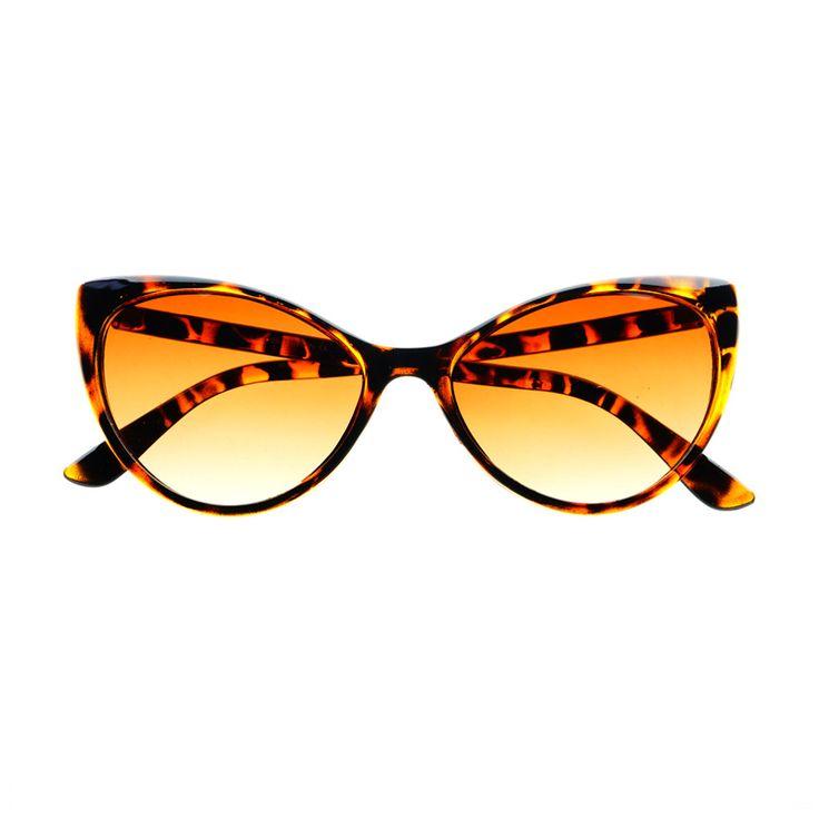 Vintage Retro Fashion Tip Pointed Large Womens Cat Eye Sunglasses C75