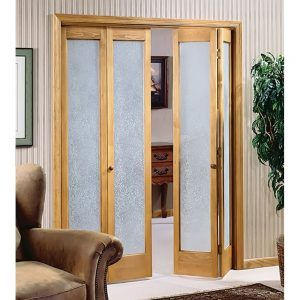 Stained Glass Bifold Closet Doors