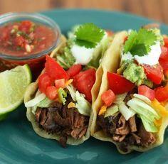 Carne mechada para tacos y burritos con  thermomix
