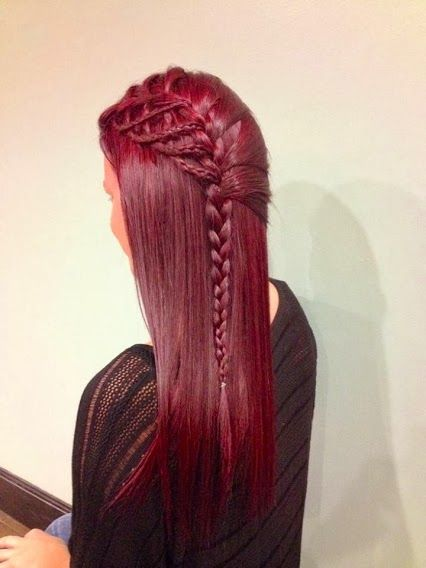 Wow! Check out this spicy red color and charming braid. Can you pull this look off? Find out at Beauty.com!