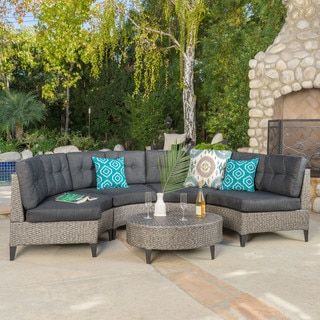 Shop for Navagio Outdoor 5-piece Wicker Sofa Set with Cushions by Christopher Knight Home. Get free delivery at Overstock.com - Your Online Garden