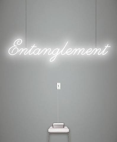 Neon by artist Rafael Lozano-Hemmer, Entanglement..I always wanted to make neon signs