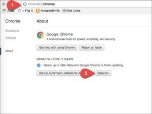 Update Google Chrome Latest Version – Method 2