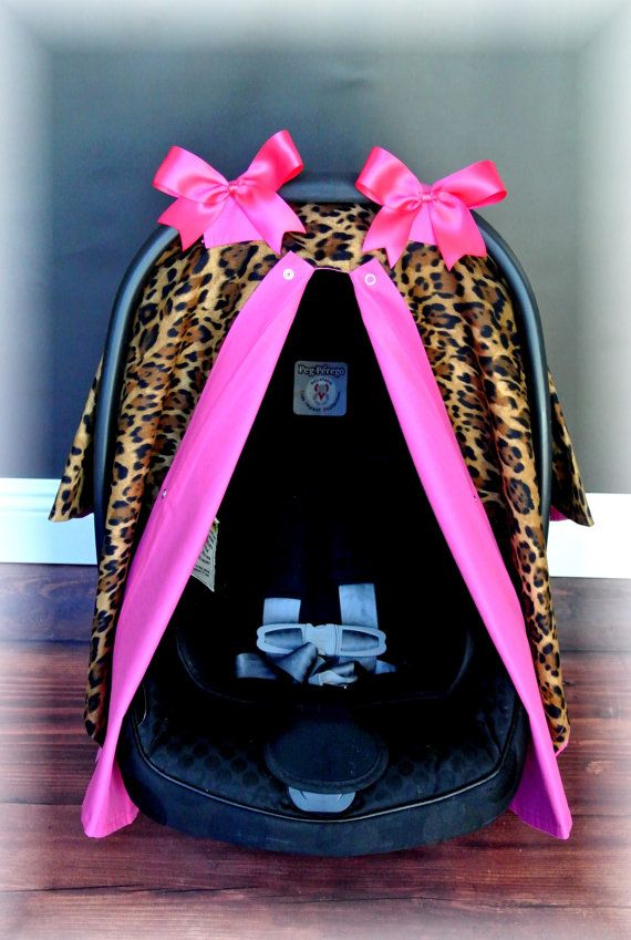NEW Hot PINK CHEETAH carseat canopy car seat by JaydenandOlivia