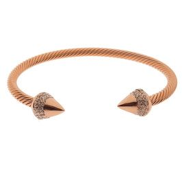 Rose Gold Pave Spike Bracelet